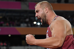 Stipe Zunic in the shot put at the IAAF World Championships London 2017 (AFP / Getty Images)