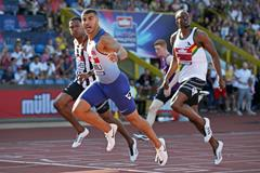 Adam Gemili wins the 200m at the British Championships (Getty Images)