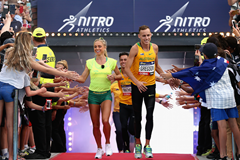 Genevieve LaCaze and Ryan Gregson at Nitro Athletics (Getty Images)