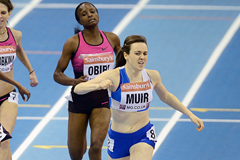 Laura Muir finishes ahead of Hellen Obiri in the 1500m (Getty Images)