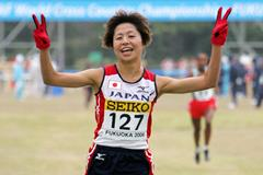Kayoko Fukushi at the 2006 World Cross Country Championships in Fukuoka (AFP/Getty Images)