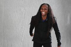 Hellen Obiri ahead of the IAAF Athletics Awards 2017 (Giancarlo Colombo)