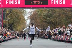 Eliud Kipchoge breaks two hours in Vienna (AFP/Getty Images)