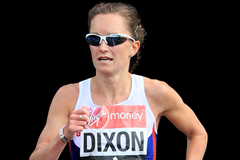 Alyson Dixon in action at the London Marathon (Getty Images)