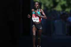 Edna Kiplagat in the marathon at the IAAF World Championships (AFP / Getty Images)