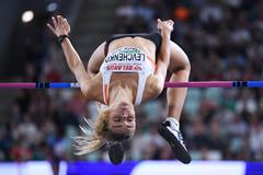 Yuliya Levchenko tops 2.02m in Minsk (Getty Images)