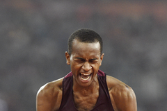 Mutaz Essa Barshim at the IAAF World Championships (AFP / Getty Images)