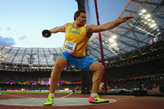 Daniel Stahl competes at the IAAF World Championships in London (Getty Images)