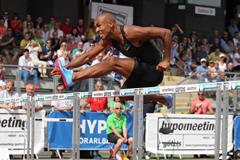 Damian Warner on the way to another Canadian decathlon record in Gotzis (Jean Pierre Durand)