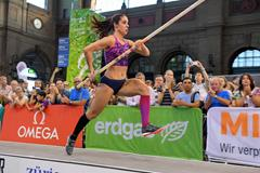 Katerina Stefanidi at Zurich's main train station (Gladys Chai van der Laage)