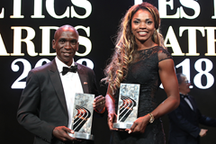IAAF World Athletes of the Year Eliud Kipchoge and Caterine Ibarguen (Philippe Fitte)