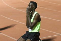Jamal Abdelmaji Eisa Mohammed after his 10,000m PB in Tel Aviv (Alley Runners South Tel-Aviv)