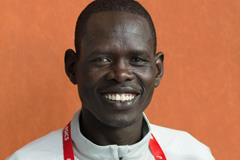 Athlete Refugee Team member Ukuk Utho'o Bul in Valencia (Bob Ramsak)