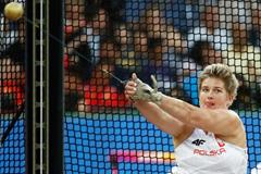 Poland's Anita Wlodarczyk in action in the hammer in London (Getty Images)