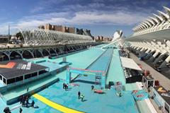 The finish area in Valencia (Michael Lasserre)