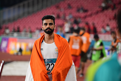 Arpinder Singh celebrates at the 2018 Asian Games (AFP / Getty Images)