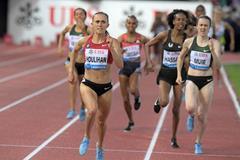 Shelby Houlihan wins the Lausanne Diamond League 1500m (Gladys Chai von der Laage)