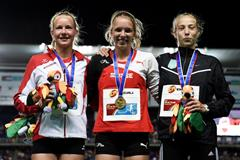 The girls' heptathlon podium at the IAAF World Youth Championships, Cali 2015 (Getty Images)