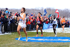 Morgan McDonald wins the NCAA cross-country title (Kirby Lee)