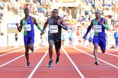Christian Coleman wins the 100m at the IAAF Diamond League meeting in Oslo (Deca Text & Bild)
