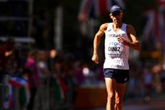 Yohann Diniz leads the 50km race walk at the IAAF World Championships London 2017 (Getty Images)