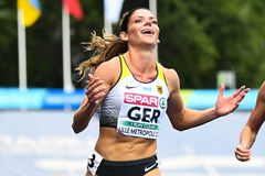 Pamela Dutkiewicz wins the 100m hurdles at the European Team Championships in Lille (Getty Images)