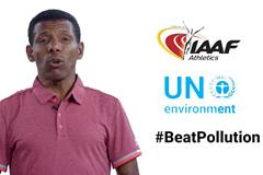 Haile Gebrselassie on World Environment Day (IAAF)