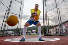 Myhaylo Kokhan, winner of the hammer at the European U20 Championships in Boras (Getty Images)