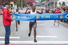 Dorcas Kimeli wins the Ottawa 10k (Victah Sailer / organisers)