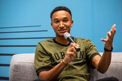 World 800m champion Donavan Brazier ahead of the World Athletics Awards 2019 (Philippe Fitte)
