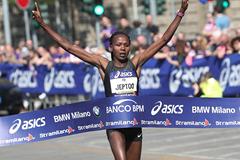 Priscah Jeptoo wins the Stramilano Half Marathon (Giancarlo Colombo / organisers)