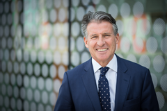 IAAF President Sebastian Coe at Loughborough University (Loughborough University)