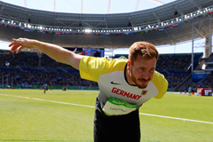Christoph Harting celebrates gold at the Rio Olympics (Getty Images)
