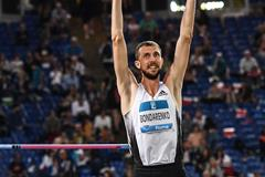 High jumper Bogdan Bondarenko at the IAAF Diamond League meeting in Rome (AFP / Getty Images)