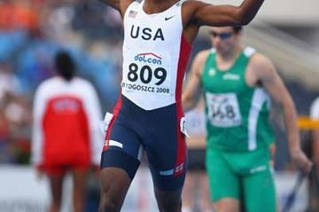 Marcus Boyd of USA celebrates winning the Men's 400m Final (Getty Images)