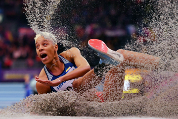 Yulimar Rojas in the triple jump at the IAAF World Indoor Championships Birmingham 2018 (AFP / Getty Images)