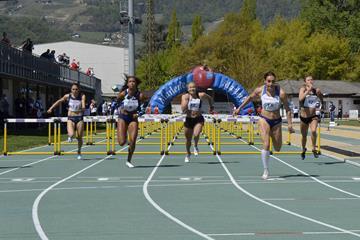 Holly Mills in the heptathlon 100m hurdles at Multistars in Lana (Daniele Morandi)