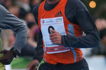 Abderrahim Goumri of Morocco en route to victory at the Bolzano BoClassic 10km (Lorenzo Sampaolo)