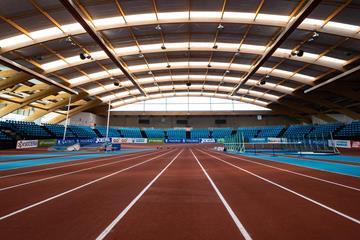 Polideportivo Municipal Gallur, venue of Madrid's World Athletics Indoor Tour meeting (Dan Vernon)