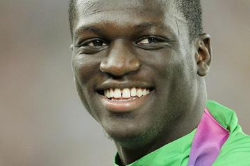 Kirani James on the podium at the 2011 World Championships (Getty Images)