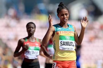 Alemaz Samuel wins the women's 1500m at the IAAF World U20 Championships Tampere 2018 (Getty Images)