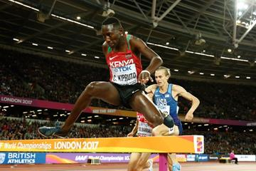 Conseslus Kipruto in the steeplechase at the IAAF World Championships London 2017 (Getty Images)