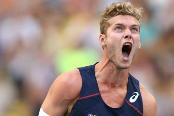 Kevin Mayer in the decathlon at the IAAF World Championships (Getty Images)