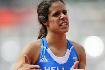 Ekaterini Stefanidi in the pole vault at the London 2012 Olympic Games (Getty Images)