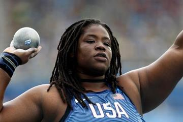 Felisha Johnson in the shot put at the Rio 2016 Olympic Games (Getty Images)