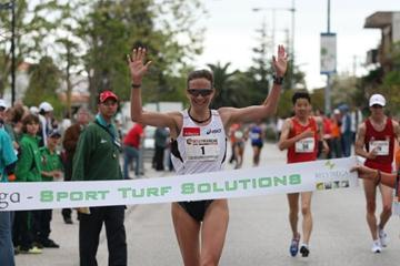 Kjersti Plätzer defends her title in Rio Maior (Marcelino Almeida)