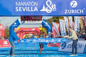 A convincing victory for Ayana Tsedat at the Seville Marathon (Organisers)