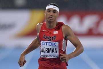 Michael Norman wins the 200m at the IAAF World U20 Championships Bydgoszcz 2016 (Getty Images)