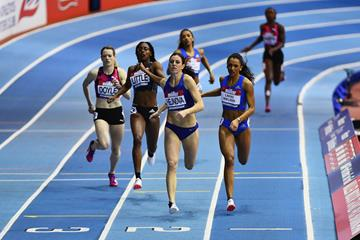 Zuzana Hejnova winning the 400m at the Muller Indoor Grand Prix in Birmingham (Getty Images)