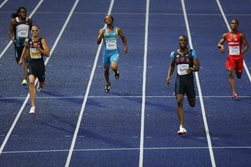 LaShawn Merritt of the United States storms towards winning his first IAAF World Championship title in the 400m in Berlin (Getty Images)